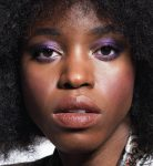 Colorful make up on dark skin by Alice Rossi.